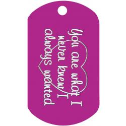 Always Knew Dog Tag T011