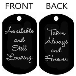 Available/Taken Dog Tag T018